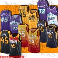 "Utah ""Jazz"" Jersey Jaseray Donovan 45 Mitchell Jerseys Jetons John 12 Stockton Jersey Karl 32 Jerseys Malone"