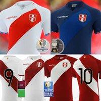 21/22 Perú Jerseys de fútbol Copa Americana 2021 Equipo nacional Inicio Lapadula Guerrero Farfan Flores Perú Hombres Camisetas de Fútbol Cueva Carrillo Camisa de Fútbol