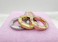 Collar de amor colgante de anillo con oro 18k collares de diseño de diamantes para amantes de la boda o regalo de cumpleaños especial