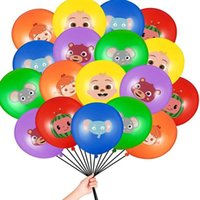 Cocomelon JJ Melon Themen Dekorationen Ballon Cartoon Baby Familie Dekorative Latex Ballon Sets Geburtstagsfeier Ornament Zubehör G31803