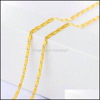 Ketten Schmuck2mm Smooth Flache Kette Halskette Für Frauen Männer Schmuck Halsketten Anhänger Charms Schmuck 16-30 Zoll Gold Sier Farbe Neckalce
