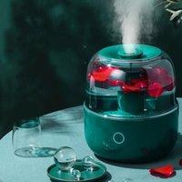 المرطبات الرجعية الجو الأخضر المرطب الناشر المنزلية 4L سعة كبيرة رائحة نوم كتم الصوت البخاخة الروائح
