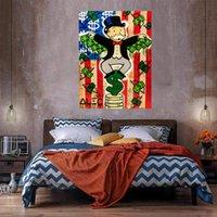 Dinheiro Asas Enorme Pintura a óleo sobre Canvas Home Decor HandCrafts / HD Imprimir Print Art Pictures Personalização é aceitável 21050804
