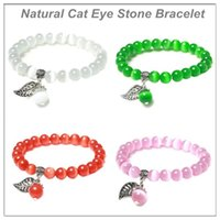 Natural Cat Eye Stone Bracelet Color Opal Single Ring Crystal Jewelry Rich Colors For Girls And Women's Holiday Gift Wholesale