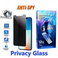Anti Spy Privacy Screen Protector Glass for iPhone 11 12 PRO MAX XR XS 7 6S 8 PLUS Tempered Glasses with Retail Box