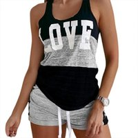 Tracksuit Letter Design Pajama Sets Womens Sleepwears Sleeveless Drawstring Lounge Shorts Summer Out Going Night Wear Home Suit