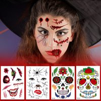 Personality Masquerade Makeup Other Fashion Accessories Waterproof Halloween Temporary Face Scars Tattoo Sticker Soy Extract Ink Cosmetic Grade AB Glue Gifts