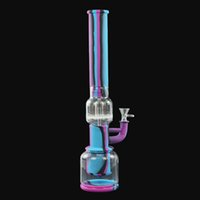 silicone pipe smoking glass water pipes hookahs oil rig bongs with accessories use for tobacco