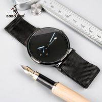 Wristwatches Fashion Male Watch Men Quartz Analog Timepieces Women Magnetic Strap Bule Small Dial Relogio Masculino Thin BOBO BIRD