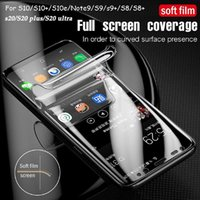 Full Cover Protectiv Film Not Tempered Glass Protector For Samsung Galaxy S20 S20Plus S21 ultra Note10 S10 S9 Plus Screen