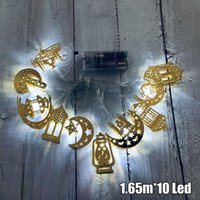 Party Decoration 1Pc 1.65M Eid Mubarak String Fairy Lights 10 LED Moon Star Lamp Ramadan Decor Ultra-thin Soft Wire