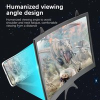 Cell Phone Mounts & Holders HD 3D Video Stand Bracket Foldable Holder 12 Inch 2-3X Mobile Magnifying Glass Curved Screen