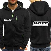 Men's Hoodies & Sweatshirts HOYT Logo High Street Hoodie Sportswear Autumn Pocket Sports Shirt Long Sleeve Zipper Slim Jacket