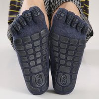 Men's Socks Winter Five Fingers Warm Non Slip Grip Fitness Toe Low Calf Slipper Male Floor Funny Sock Gifts For Men