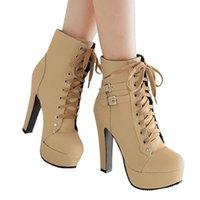 2021 Высочайшее качество Mcckle Plus Размер лодыжки Ботильоны Женские платформы Высокие каблуки женские оружины женские Обувь Пряжка Женщина короткие ботинки женская обувь