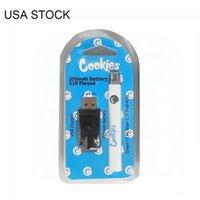 クッキーバッテリーアメリカストック510スレッドバッテリーバッテリー充電器キット予熱環境350mAh可変電圧調整可能な電池の梱包速い出荷
