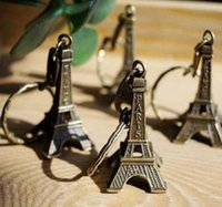 Tour Eiffel Keychain estampillé Paris France Tower Pendentif Key Bague Cadeaux Fashion Gold Sliver Bronze PS0850