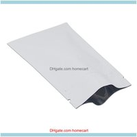 Embalagem de Escola de Escola de Embalagem Industrial8x12 cm Mylar Mylar Reusável Mercearia Saco Matte Branco Resealable Alumínio Food Food Bolsa Zipper