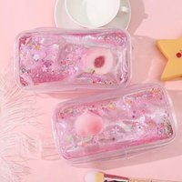 Storage Bags Pencil Case Clear Cosmetic Bag PVC Transparent Makeup For Women Girls Beauty Travel Toiletry Stationery