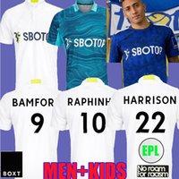 21 22 Leeds Away Futbol Formaları Hayranları Oyuncu Sürümü 2021 2022 Firpo Junior Harrison Hernandez Costa Bamford Phillips Raphinha Erkekler Çocuk Kitleri Futbol Gömlek Birleşik