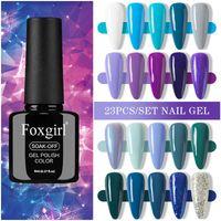 Nail Gel 2021 Polish Kit 8ml Gelpolish Semi Permanent Lot Soak Off UV LED Nails Gels Lacquer Art Varnish 23pcs Set