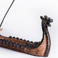التنين قارب البخور عصا حامل الموقد اليد منحوتة نحت مبخرة الحلي الرجعية البخور التصميم التقليدي سفينة البخور الموقد 331 R2