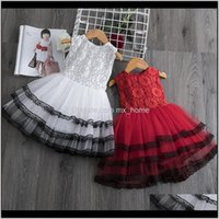 Dresses Baby Clothing Baby, Kids & Maternity Drop Delivery 2021 Elegant Pearl Cake Princess Girls Party Dress For Wedding Flower Girl Childre