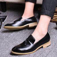 Goodrsson Socialcelebrity Mens Sapatos Tassel Personalidade Moda Mens Sapatos Casuais Compras confortáveis Menshoes Sapatos Homens K7SP #