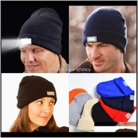 Headlamps And Hiking Sports & Outdoors5 Led Light Warm Winter Beanies Gorro Fishing Angling Camping Black Caps Headlamp Knitting Woolen Hat