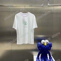 21ss Erkekler Baskılı T Shirt Tasarımcı Paris Makas Mektup Giysi Kısa Kollu Erkek Gömlek Etiketi Beyaz Siyah 05