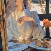 Women's Hoodies & Sweatshirts Korean autumn fashions elegant vintage lace blouse fringe female long street chic designer clothes IIL3