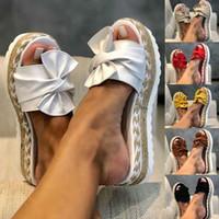 Kancool Summer Femme Femelle Sandales Plateforme Sandales Femmes Bow Fashion Fashion Indoor PLAG EXTÉRIEUR EXTÉRIEUR DE LAMIES TAILLE 35-43 210903