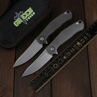 Green Thorn Playing Card Edição Limitada M390 Lâmina + Liga de Titânio Liga De Camping Ao Ar Livre Faca dobrável Ferramenta EDC