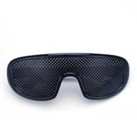 Óculos de pinhole preto anti fadiga hallow óculos de sol pequeno buraco miopia óculos de alta qualidade plástico gota
