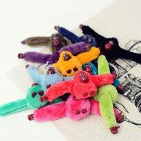 Cute Girls Fluffy Fur Monkey Key Chain Women Plush Danny Monkey Keychain Bag Car Trinket Jewelry Party Wedding Toy Doll Gift