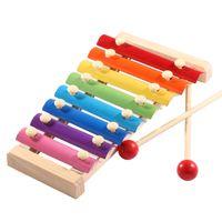 Enstrüman Oyuncak 8 Terazi Ahşap Çerçeve Stil Ksilofon Çocuk Müzikal Komik Oyuncaklar Bebek Eğitici Oyuncak Çocuk Doğum Günü Hediyesi
