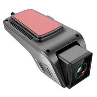 WiFi Dash Cam V6 Lente de Grande Grande Lente DVR Dashcam Night Vision Loop Gravação 24h Estacionamento Modo Dashboard Camera 32GB DVRs