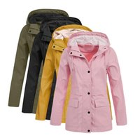 Women's Jackets 5XL Plus Size Coats For Women Casual Button Pockets Female Windbreaker Autumn Winter And Solid Outwear