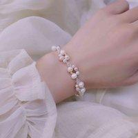 Bracelets and Soft-water Pearl Trinkets for 14k Women Bathed in Real Gold Elegant Bracelets Crystal