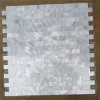 Обои Чистая белая бесшовная мать жемчужной мозаичной плитки для дома украшения для дома настенная кухня задняя сторона 1 квадратный метр / лот AL084