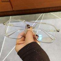Grande quadro quadrado anti-azul óculos de luz homens mulheres superdimizadas Computador Óculos Óculos Óculos Óculos Óculos De Óculos De Ópticas Leesbril