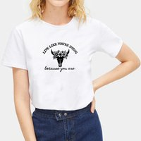 Ölmek Gibi Canlı Baskılı Tee Gömlek Femme O-Boyun Kısa Kollu Pamuk Tişört Kadın Yaz Gevşek T Shirt Kadınlar için 210522