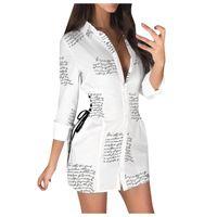 여성 의류 저지 드레스 여름 얇은 셔츠 티셔츠 여성 일일 폴리 에스터 캐주얼 일반 드레스 레이디 맥시 드레스