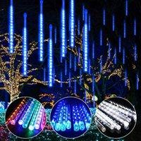 Edison Waterproof 30CM 50CM Snowfall LED Strings Strip Light Christmas Meteor Shower Rain Tube Lights String AC100-240V for Xmas Party Wedding