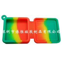 Nonstick 왁스 컨테이너 9ml 블록 모양 실리콘 식품 학년 항아리 DAB 도구 저장 용기 오일 홀더 기화기 흡연 액세서리 505 R2