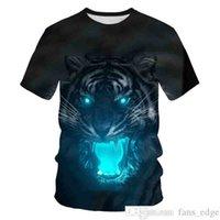 Novo Leão Africano 3D Impressão Mens Homem T-Shirt Material Macio Roupas Soltas Multicolor Personalizado Casal Personalizado T-Shirtsoccer Jersey