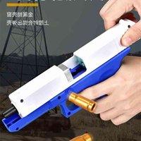 Shell Wurfglas Glock Manuelles Laden Weiche Kugel Spielzeug Simulation Modell Packen Kinderjungen M1911 Hand Gun2