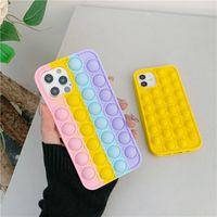 Telefonabdeckung mit Push-Blase Pop FIDGET Toys Cases 2 in 1 tragbarer Relive-Stress für iPhone