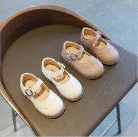 여자 가죽 신발 아이 패션 영국 스타일 2021 봄 가을 어린이 아파트 캐주얼 소프트 새로운