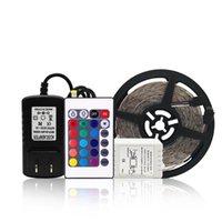 Striscia a LED 5m 300LEDS RGB Nastro TV Retroilluminazione TV 24,44Key Impermeabile con lampada da letto RGBWW SMD3528 Kit bianco, strisce luminose calde
